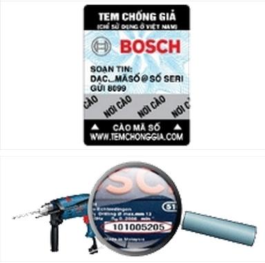 Tem chống hàng của máy khoan Bosch