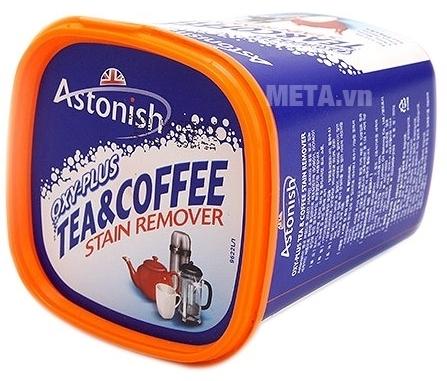 Chất tẩy rửa cặn trà, cà phê Astonish có nắp đậy kín giúp bảo quản được lâu hơn.Chất tẩy rửa cặn trà, cà phê Astonish có nắp đậy kín giúp bảo quản được lâu hơn.