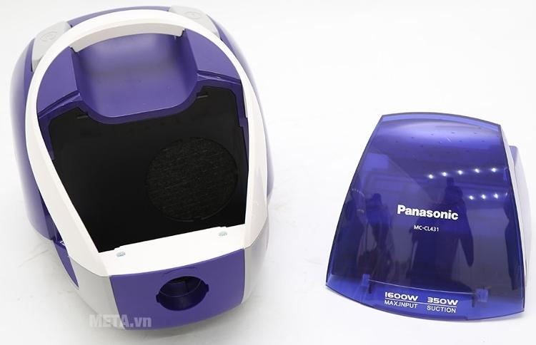 Panasonic CL431AN46 thiết kế nhỏ gọn nhưng có hộp chứa bụng dung tích tới 1.2 lít.