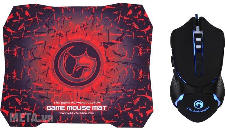 Chuột quang Marvo M309 + G1 New (kèm bàn di chuột) dành cho game thủ.