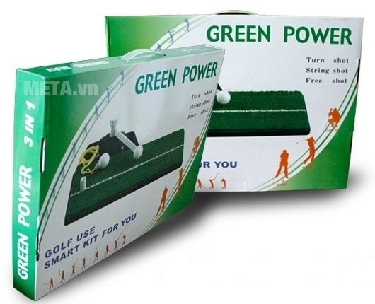 Thảm tập Golf Swing Mat dễ dàng gập gọn cất vào hộp và mang theo đến văn phòng tập luyện.