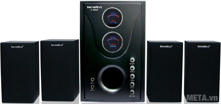 Loa máy tính SoundMax A8800 4.1 cho âm thanh đạt mức độ trung thực cao.