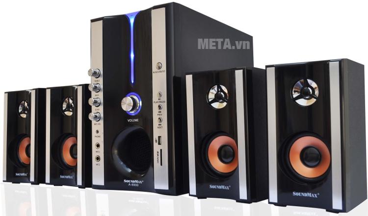 Loa máy tính SoundMax A8900 4.1 hỗ trợ hát karaoke.