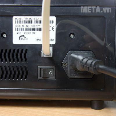 Nút nguồn của máy đếm tiền Silicon MC-B52