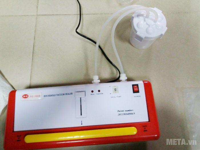 Hình ảnh lắp máy khi dùng máy hút chân không DZ300B để hút đồ ướt