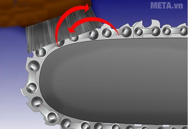 Cách dũa xích của máy cưa xích - Bước 2
