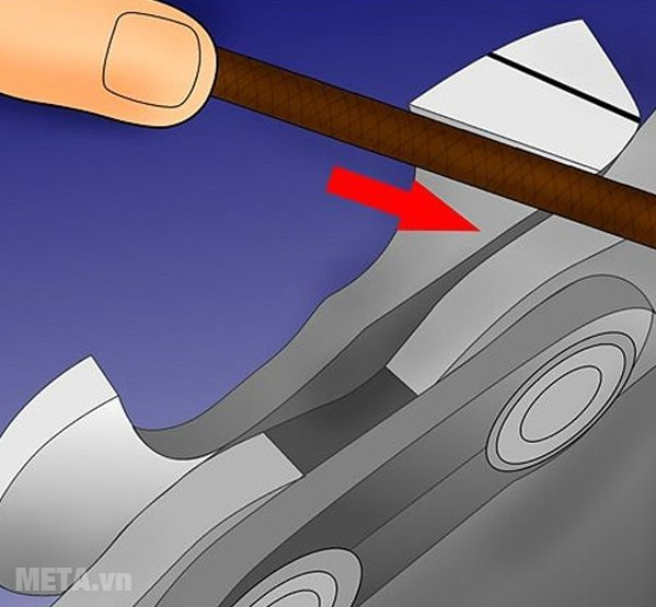 Cách dũa xích của máy cưa xích - Bước 6