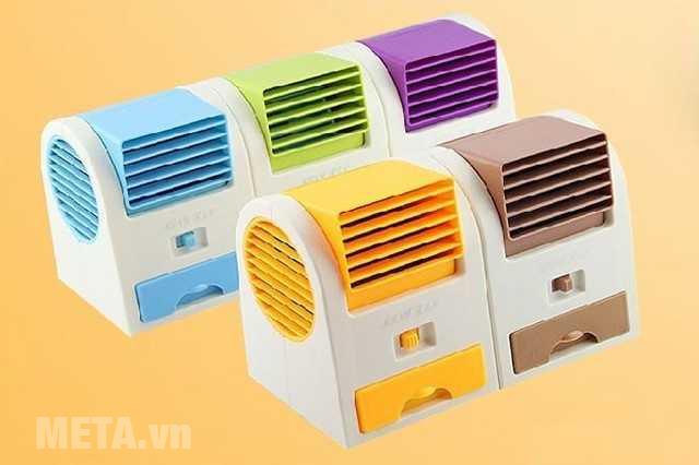 Điều hòa mini cầm tay USB có thiết kế đơn giản, màu sắc đa dạng.