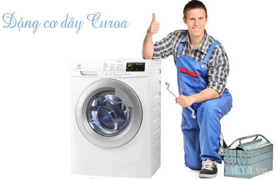 Máy giặt cửa trước 8kg Electrolux EWF10844 có động cơ dây Curoa tiên tiến