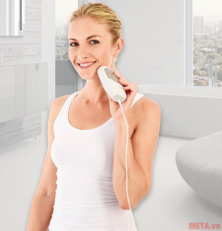 Máy triệt lông cá nhân Beurer IPL7500 sử dụng được trên nhiều vùng da nhạy cảm