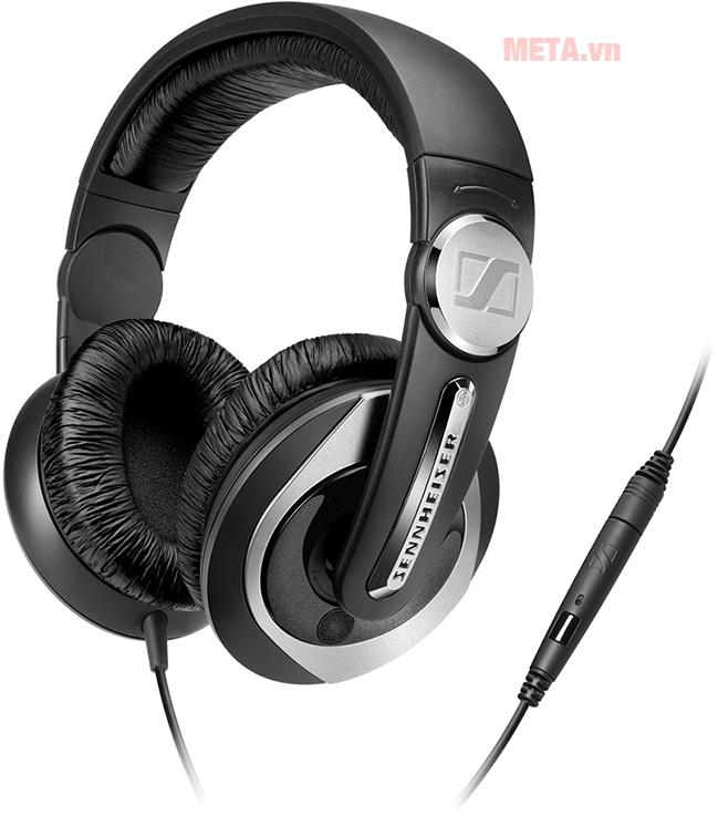 Tai nghe Sennheiser HD 335s có tích hợp microphone trên tay nghe giúp vừa nghe nhạc vừa có thể đàm thoại