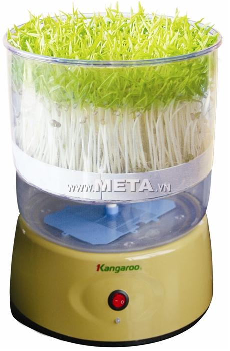 Máy làm rau mầm Kangaroo KG-262 có vỏ máy được làm bằng nhựa siêu bền, phù hợp với tiêu chuẩn vệ sinh an toàn thực phẩm