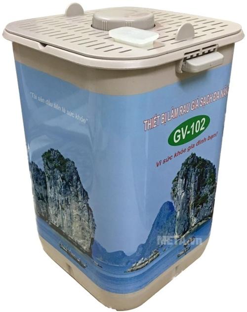Máy làm giá sạch đa năng GV-102 - Phiên bản tự động có thể làm giá đỗ, rau mầm, muối dưa, hành, cà