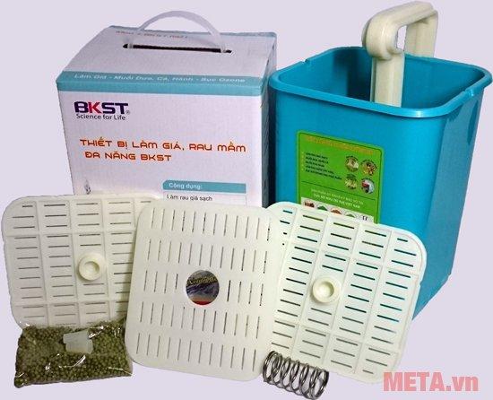Thiết bị làm giá đỗ, rau mầm đa năng BKST giúp làm rau giá sạch ngay tại nhà thật đơn giản