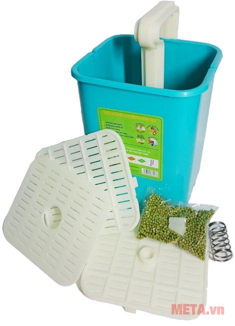 Máy làm giá đỗ sạch, rau mầm đa năng BKST có thể làm 200 - 350g đậu xanh cho ra 1,9 - 3,5 kg giá đỗ thành phẩm