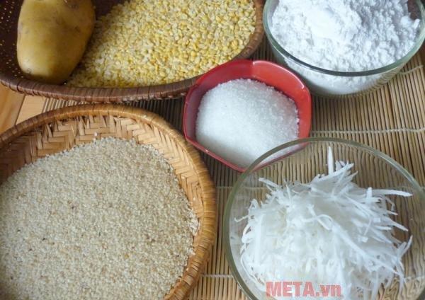 Những nguên liệu cần có khi làm bánh rán nhân đậu xanh