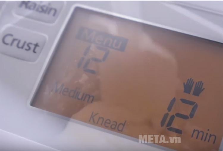 Chọn các nút chức năng trên máy làm bánh Panasonic SD-P104WRA