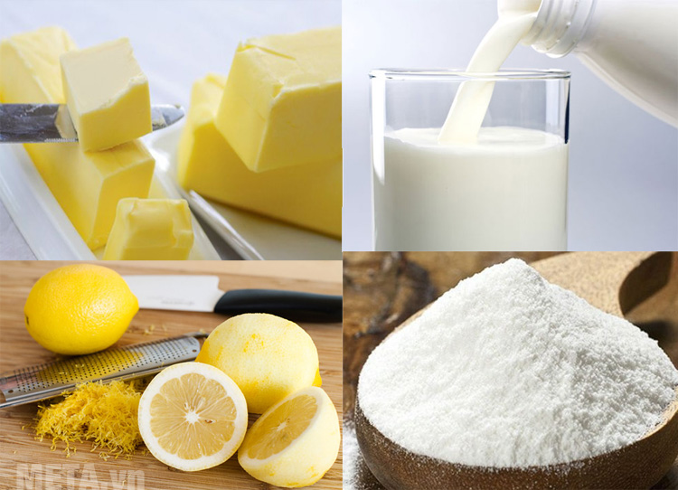 Nguyên liệu để làm món bánh mỳ chanh