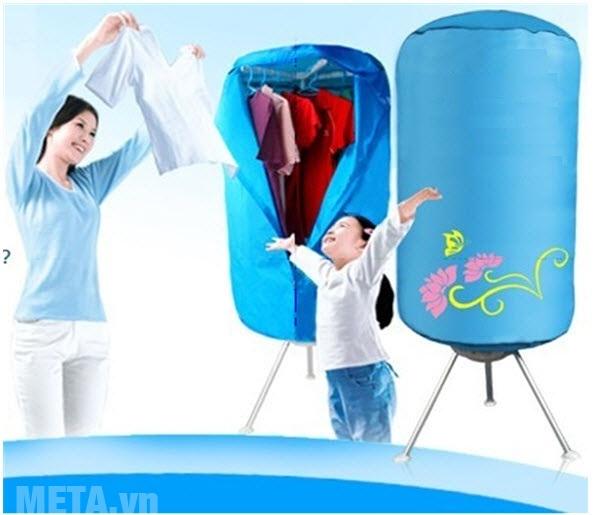 Tủ sấy quần áo giúp quần áo khô nhanh mà không sợ tốn điện