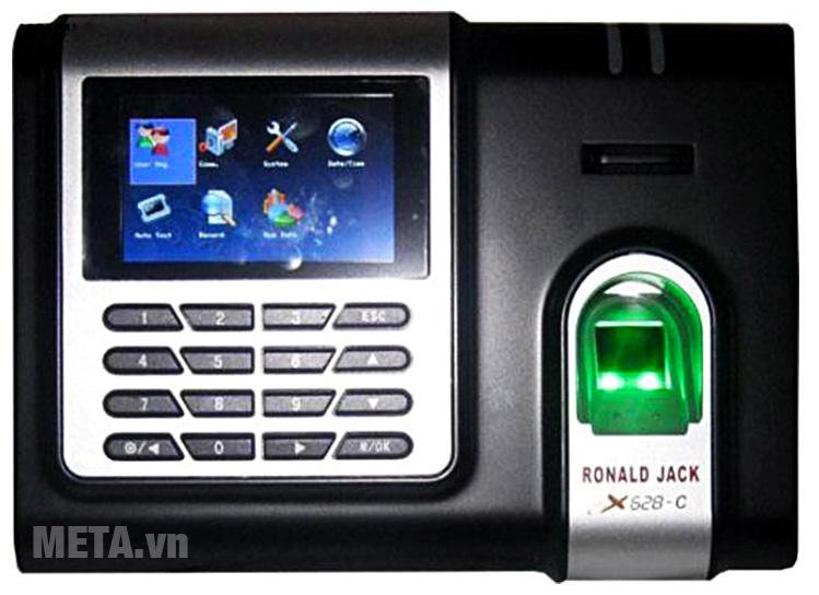 Nhấn giữ phím M/OK để đi vào giao diện chính của Ronald Jack X628-C