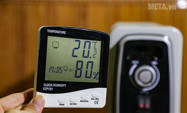 Thử nghiệm đi nhiệt độ phòng khi sử dụng máy sưởi dầu