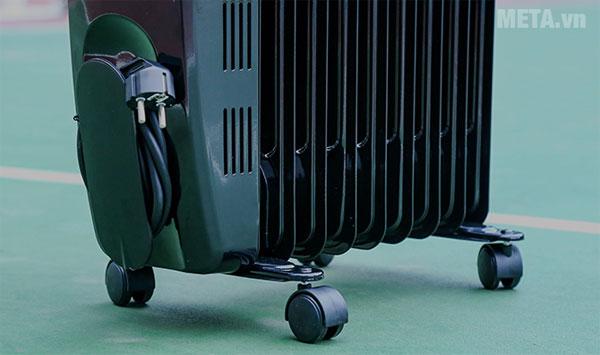 FujiE OFR4709 có bánh xe giúp bạn dễ dàng di chuyển máy