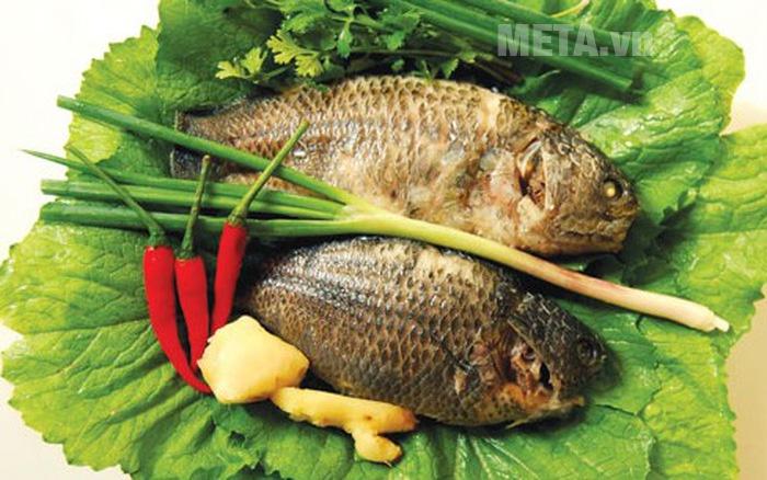 Nguyên liệu nấu canh cải cá rô