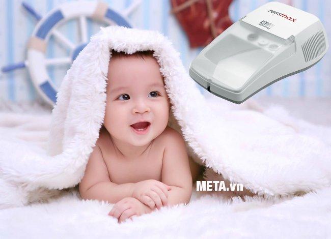 Máy xông khí dung điều chỉnh được tốc độ phun thuốc nhanh hay chậm cho phù hợp với người lớn hoặc trẻ nhỏ