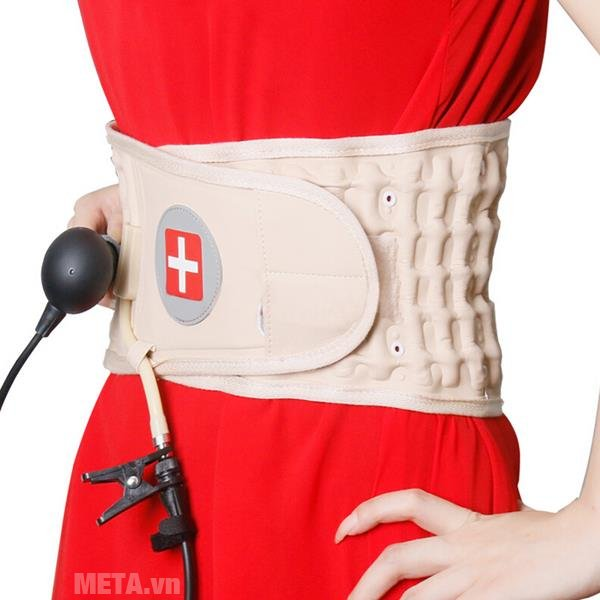 Đai hơi kéo giãn cột sống Lumbar Traction Belt CR-801 điều trị thoái hóa đốt sống chèn ép thần kinh gây đau lưng