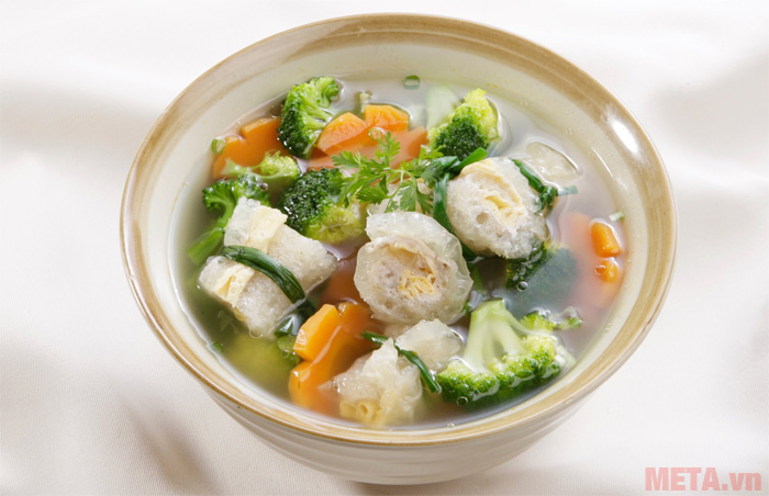 Bông cải xanh nấu cá