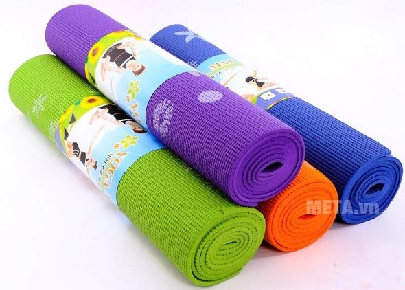 Thảm tập Yoga hoa WP2 6 ly có nhiều màu sắc lựa chọn