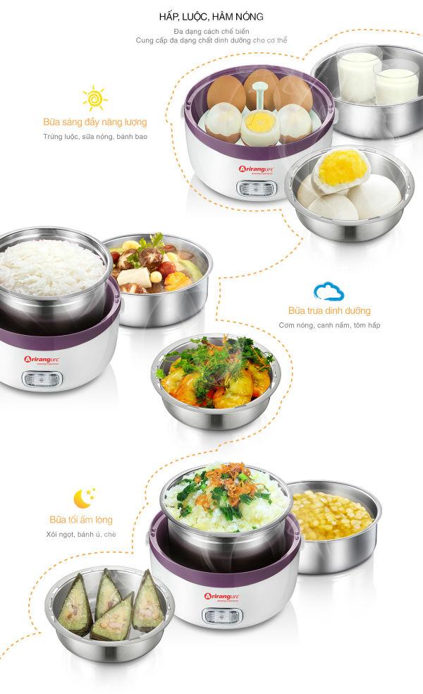 Hộp cơm hâm nóng ArirangLife đem lại cho bạn những bữa ăn hoàn hảo.