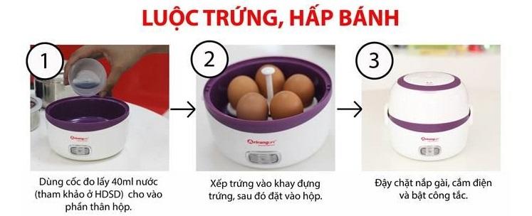 Hướng dẫn dùng hộp cơm AirangLife để luộc trứng, hấp bánh...