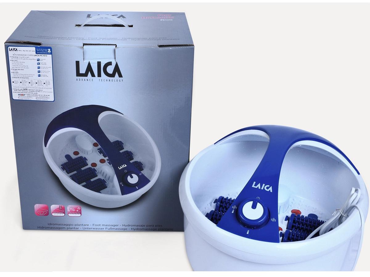 Bồn massage chân hồng ngoại Laica PC1018 nhỏ gọn