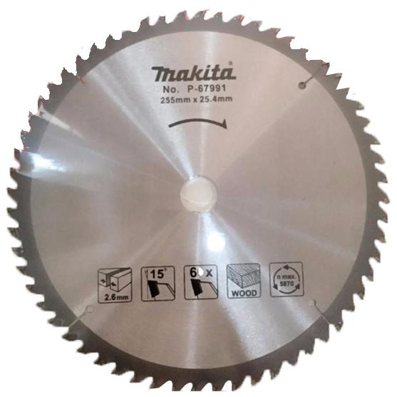 Lưỡi cưa gỗ hợp kim 60 răng Makita P-67991