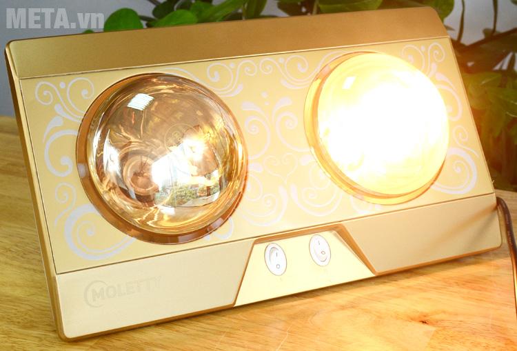 Đèn sưởi nhà tắm cho phép bật chỉ 1, 2, 3 hoặc tất cả các bóng nên không tốn điện như nhiều người vẫn nghĩ.