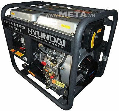 Máy phát điện chạy dầu Diesel Hyundai DHY 6000LE có thể chạy liên tục 13 giờ