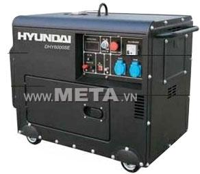 Máy phát điện chạy dầu Diesel Hyundai DHY 6000SE phun nhiên liệu trực tiếp nên tiết kiệm điện năng