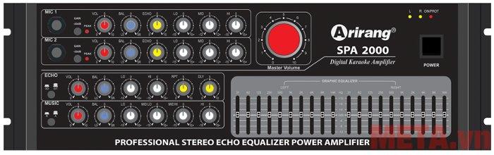 Arirang SPA 2000 có tính năng chỉnh âm vang