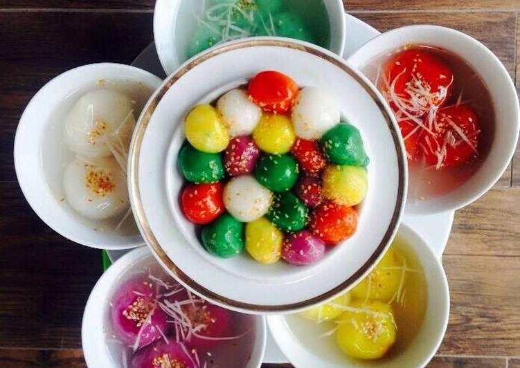 Bánh chay bạn cũng có thể sáng tạo với nhiều màu sắc riêng