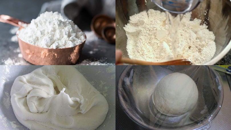 Chuẩn bị bột làm bánh trôi