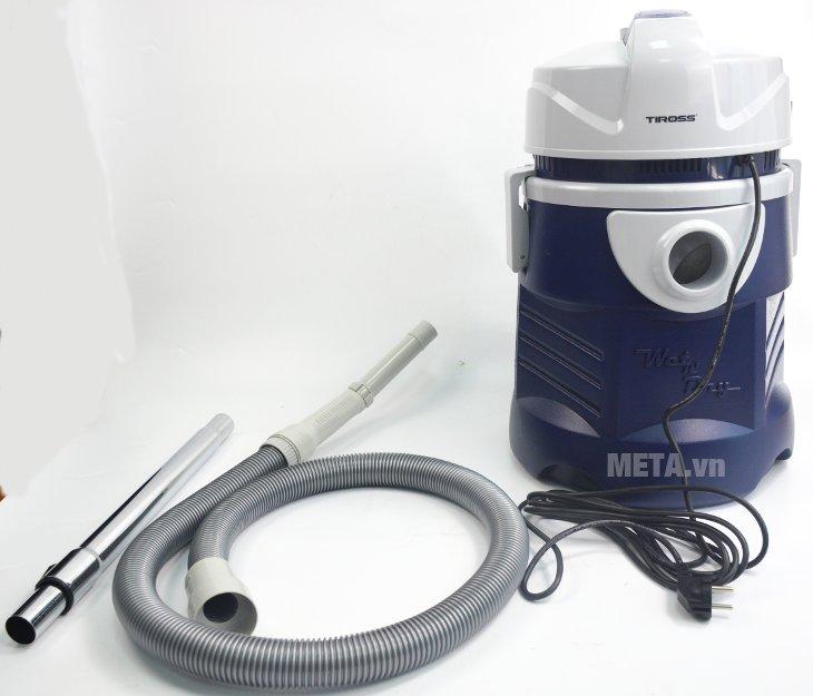 Tiross TS9301 giúp hút bụi khô, hút nước, thổi hơi hiệu quả
