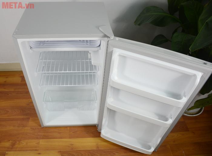 Tủ lạnh mini 98 lít Midea HS-122SN có kiểu dáng nhỏ gọn, hiện đại