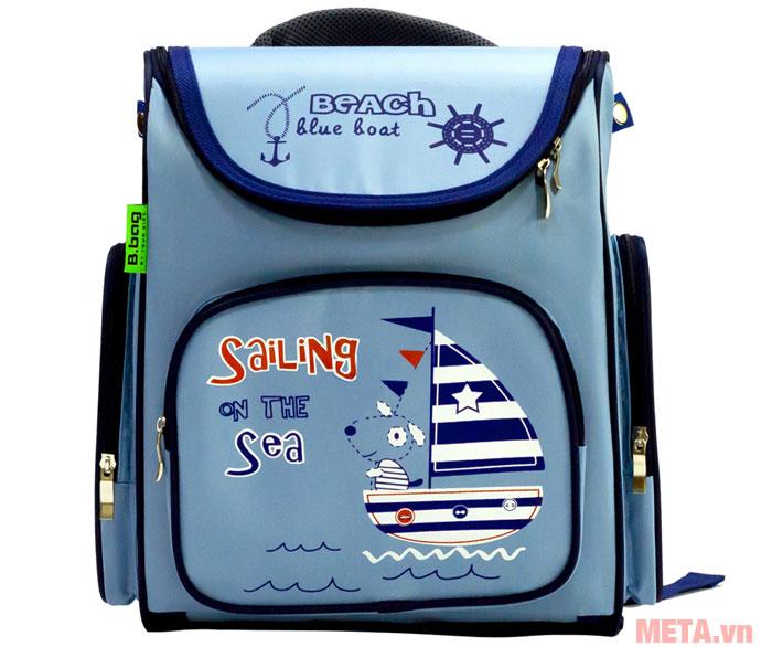 Balo chống gù Beach Blue Boat