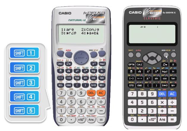 Giao diện tính toán của FX-580VN X