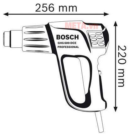 Bosch GHG 630 DCE có thiết kế nhỏ gọn