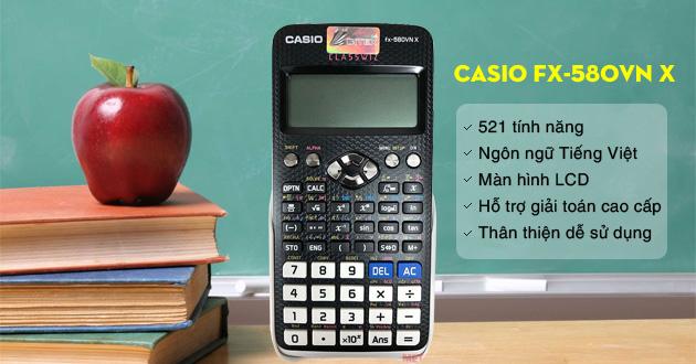 Các tính năng vượt trội của Casio FX-580VN X