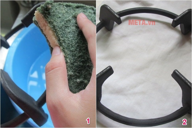 Hướng dẫn vệ sinh bếp gas đôi đúng cách
